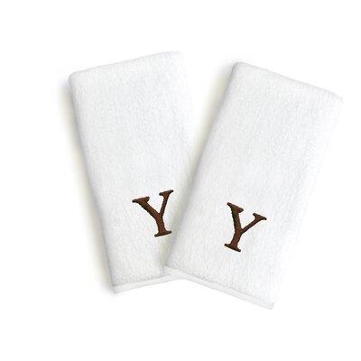 Soft Twist Monogrammed Hand Towel Letter: Letter: Y