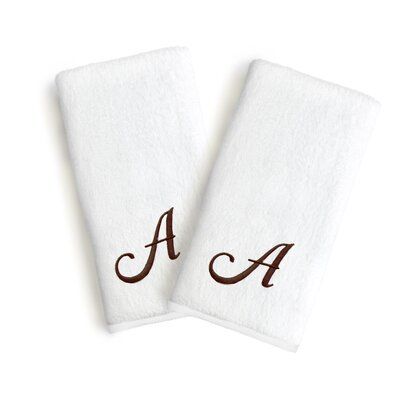 Soft Twist Monogrammed Hand Towel Letter: Letter: A