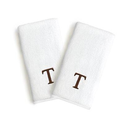 Soft Twist Monogrammed Hand Towel Letter: Letter: T