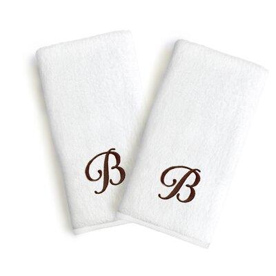 Soft Twist Monogrammed Hand Towel Letter: Letter: B