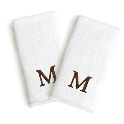 Soft Twist Monogrammed Hand Towel Letter: Letter: M
