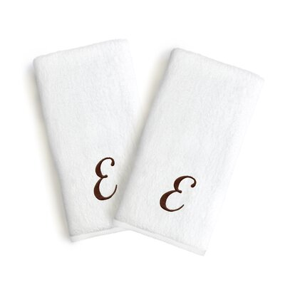 Soft Twist Monogrammed Hand Towel Letter: Letter: E