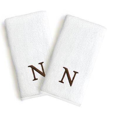 Soft Twist Monogrammed Hand Towel Letter: Letter: N