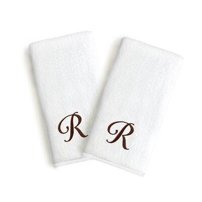 Soft Twist Monogrammed Hand Towel Letter: Letter: R