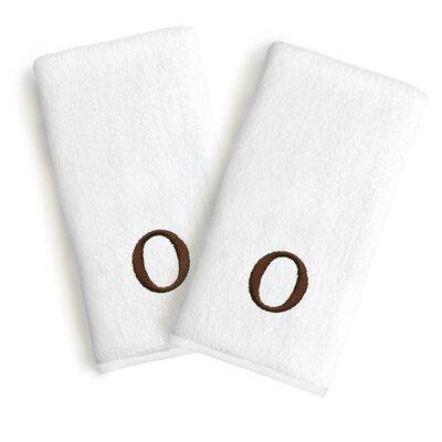 Soft Twist Monogrammed Hand Towel Letter: Letter: O