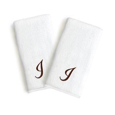Soft Twist Monogrammed Hand Towel Letter: Letter: I