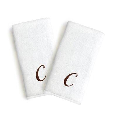 Soft Twist Monogrammed Hand Towel Letter: Letter: C