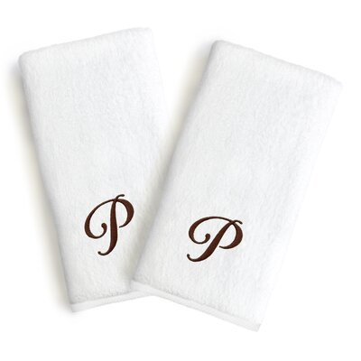 Soft Twist Monogrammed Hand Towel Letter: Letter: P
