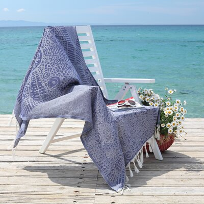 Anatolian Pestemal Beach Towel Color: Ocean Blue