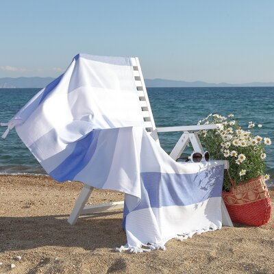Sea Waves Pestemal Beach Towel Color: Ocean Blue