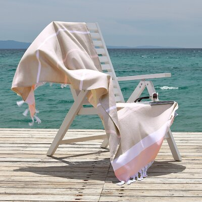 Sea Side Fun Pestemal Beach Towel Color: Cafe Latte