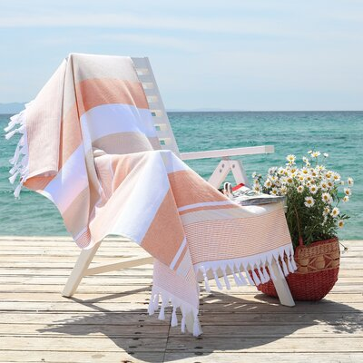 Summer Loving Pestemal Beach Towel Color: Beige