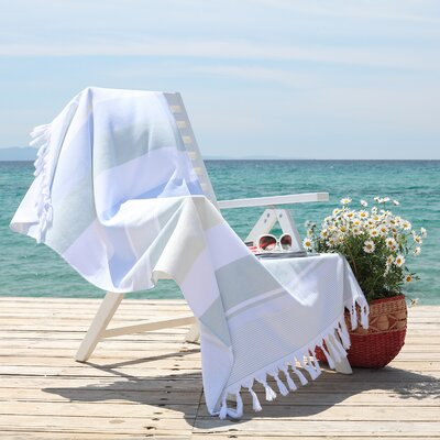 Summer Loving Pestemal Beach Towel Color: Sky Blue