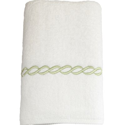 Cadena Embroidered Soft Twist Bath Towel Color: Light Green