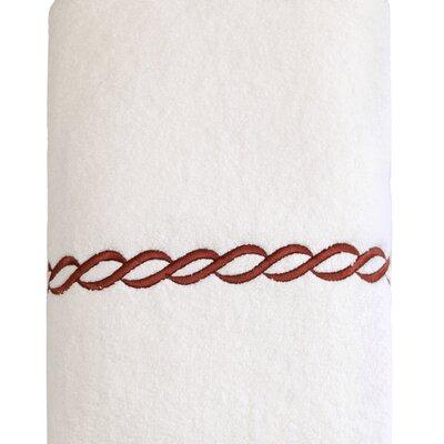 Cadena Embroidered Soft Twist Bath Towel Color: Brown