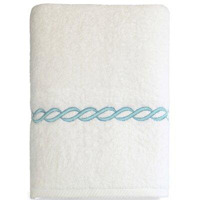 Cadena Embroidered Soft Twist Bath Towel Color: Sky Blue
