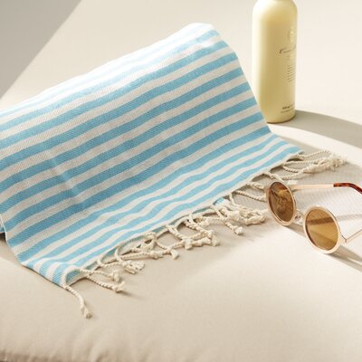 Fun in the Sun Pestemal/Fouta Bath Towel Color: Turquoise Blue