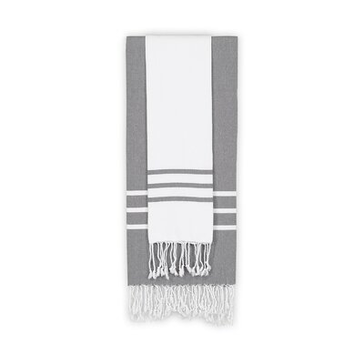 Alara 2 Piece Towel Set Color: White/Gray