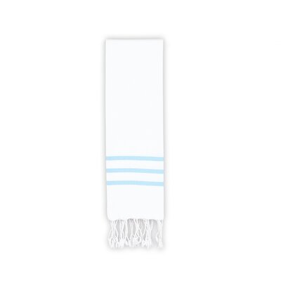 Alara Hand Towel Color: White/Sky Blue
