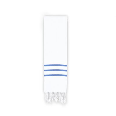 Polizzi Hand Towel Color: White/Royal Blue