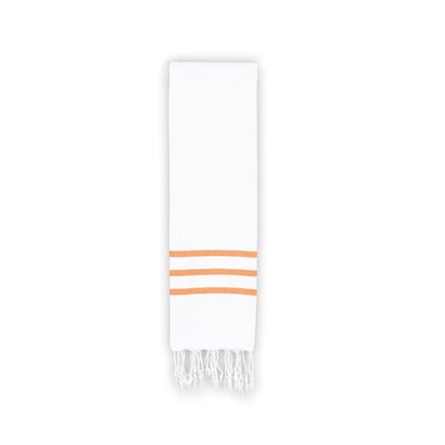 Polizzi Hand Towel Color: White/Dark Orange