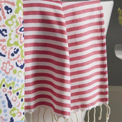 Fun in the Sun Pestemal/Fouta Bath Towel Color: Bubble Gum Pink