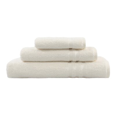 Denzi 3 Piece Towel Set Color: Cream