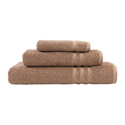Denzi 3 Piece Towel Set Color: Latte