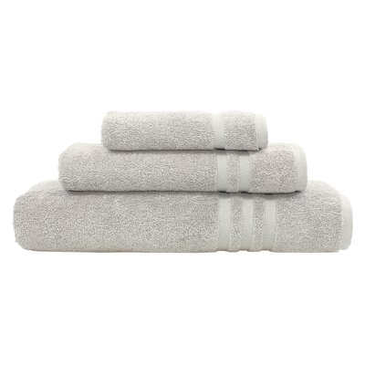 Denzi 3 Piece Towel Set Color: Gray
