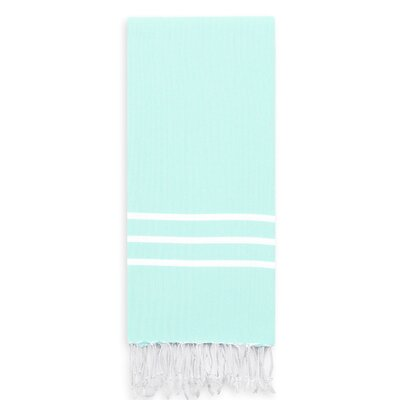 Polizzi Turkish Pestemal Beach Towel Color: Soft Aqua