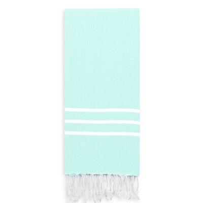 Alara Turkish Pestemal Beach Towel Color: Soft Aqua