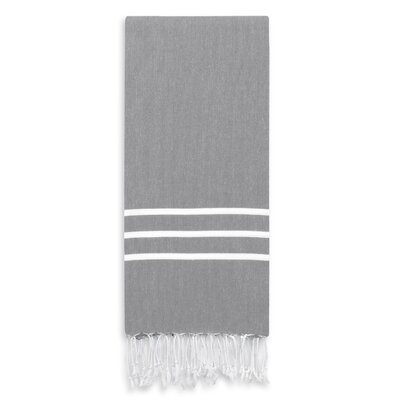 Alara Turkish Pestemal Beach Towel Color: Gray