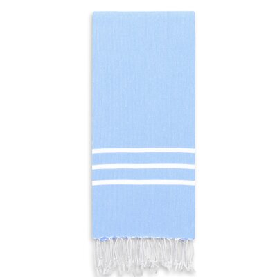 Alara Turkish Pestemal Beach Towel Color: Sky Blue