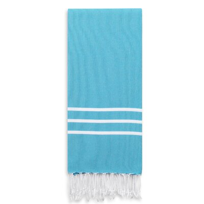 Alara Turkish Pestemal Beach Towel Color: Turquoise