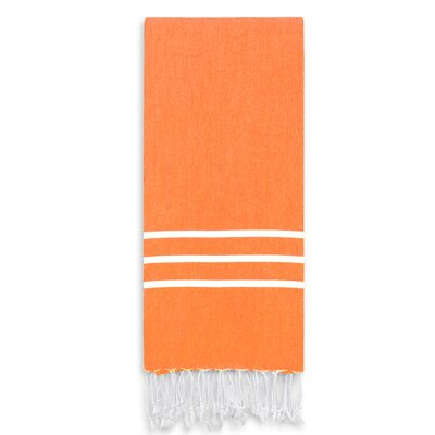 Alara Turkish Pestemal Beach Towel Color: Dark Orange