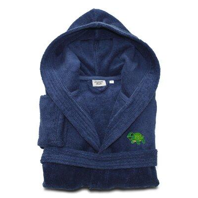 Terry Turtle 100% Turkish Cotton Hooded Bathrobe Size: Medium