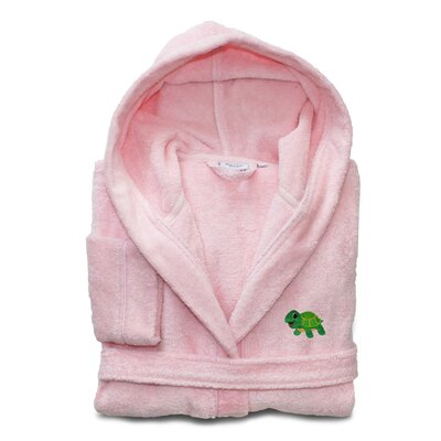 Terry Turtle 100% Turkish Cotton Hooded Bathrobe Size: Small