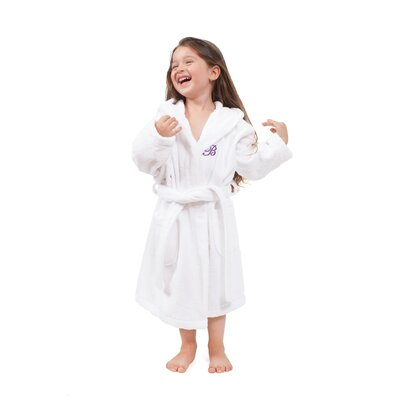 Roman Personalized Soft White 100% Turkish Cotton Hooded Unisex Bathrobe