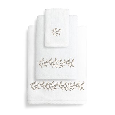 Vine 3 Piece Towel Set Color: Light Brown