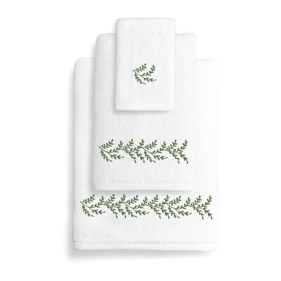 Vine 3 Piece Towel Set Color: Green