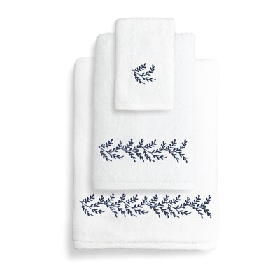 Autumn Leaves 3 Piece Towel Set Color: Navy