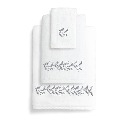 Vine 3 Piece Towel Set Color: Gray