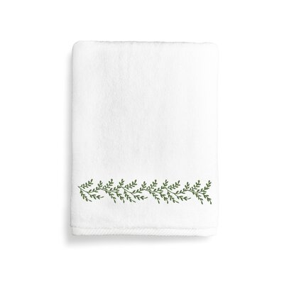 Vine Bath Towel Color: Green