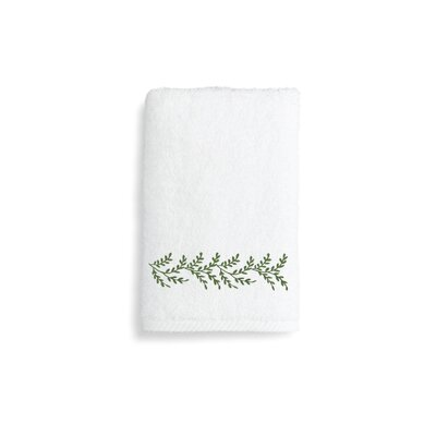 Vine Hand Towel Color: Green
