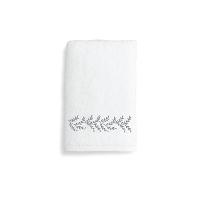Autumn Leaves Hand Towel Color: Gray