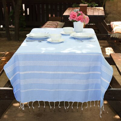Rische 100% Turkish Cotton Pestemal/Fouta Beach Towel Color: Sky Blue