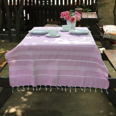 Rische 100% Turkish Cotton Pestemal/Fouta Beach Towel Color: Lilac