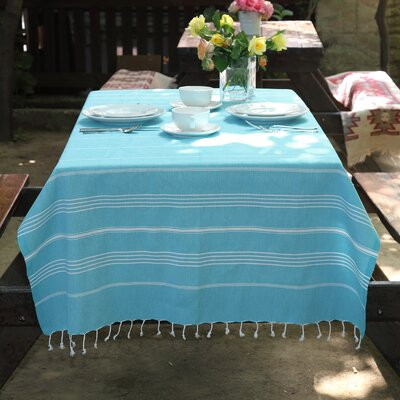 100% Turkish Cotton Pestemal/Fouta Beach Towel Color: Turquoise