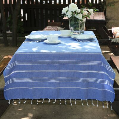 100% Turkish Cotton Pestemal/Fouta Beach Towel Color: Royal Blue