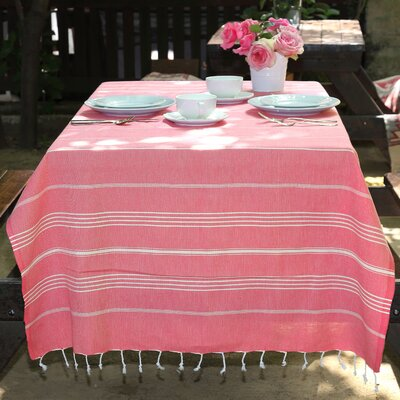 Rische 100% Turkish Cotton Pestemal/Fouta Beach Towel Color: Pretty Pink
